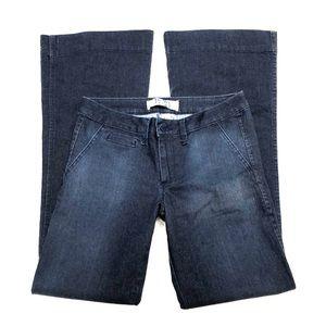 17/21 Exclusive Denim Flare/Wide Dark Blue Jeans 6